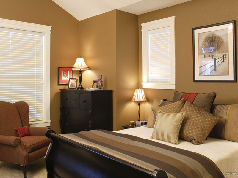 Brown White Bedroom Pvc Wall Design