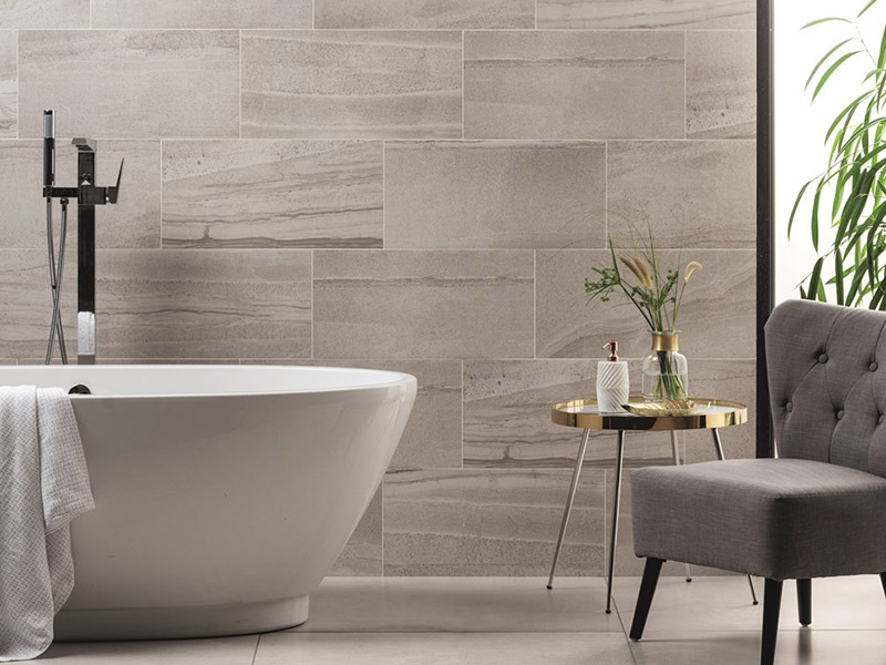 Contemporary Wall Tiles In Bath Room