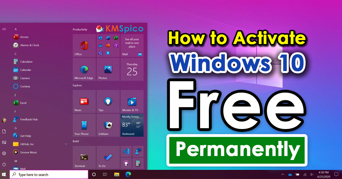 How To Activate Windows 10 For Free Permanently