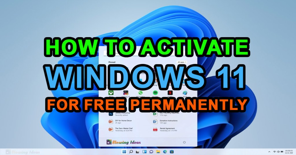 How To Activate Windows 11 For Free Permanently