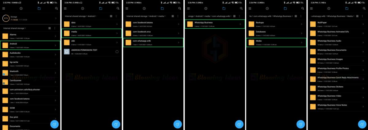 WhatsApp Business Folder In Android 11 Scaled