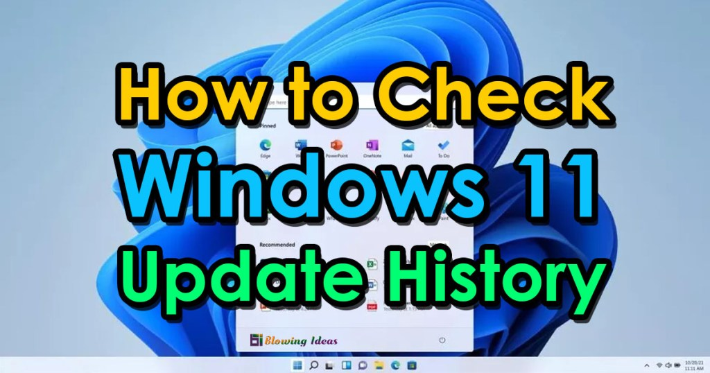 How to Check Windows 11 Update History