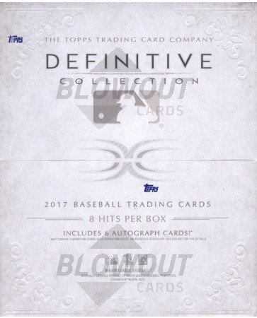 2017 Topps Definitive Baseball Hobby Box