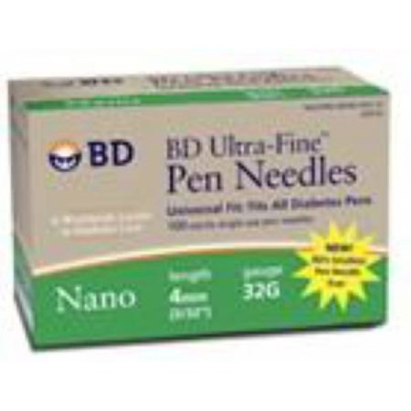 Ultra-fine Nano Pen Needle 32g X 4 Mm 100 Count - 320122