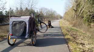 Früher Bahntrasse jetzt Fahrradfernweg
