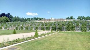 Die berühmten Treppengärten an der Südseite von Schloss Sanssouci