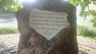 Weserstein am Zusammenfluss von Werra und Fulda