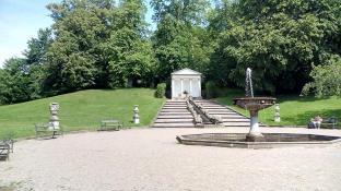 Die Kleine Kaskade und der Tempel im Neuwerk-Garten