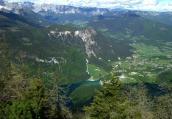 Blick vom Jenner hinunter nach Schönau und auf den Königssee