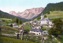 Historisches Bild von Ramsau aus dem Jahr 1900