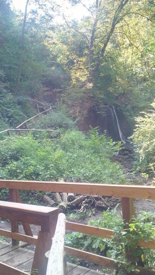 Wasserfall in der Wolfsschlucht