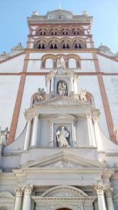 Detailansicht der Kirche St. Matthias