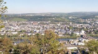 Blick von der Markuskapelle auf dem Markusberg hinunter auf die Stadt