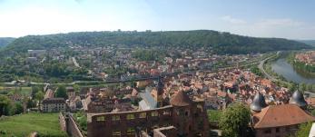 Blick von der Burg in Richtung Main