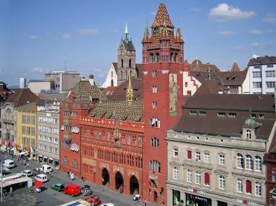 Fassade des historischen Rathauses
