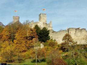 Annäherung an die Burg Rötteln per Pedes
