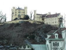 Blick auf das Schloss Schwangau