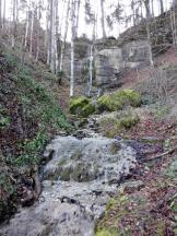 Einer der zahlreichen Wasserfälle, die sich letztendlich in den Großen Alpsee ergießen