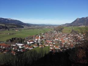 Blick über Altstädten hinweg nach Sonthofen