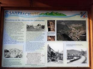 Infotafel Sahrbachtal: Mündung des Sahrbaches in die Ahr