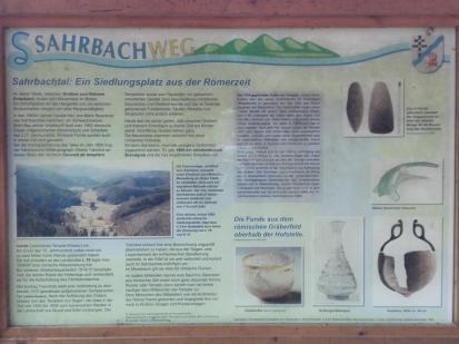Infotafel Sahrbachtal: Hier wohnten Kelten und Römer