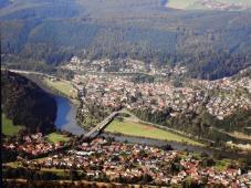 Blick auf Guttenbach am Neckar