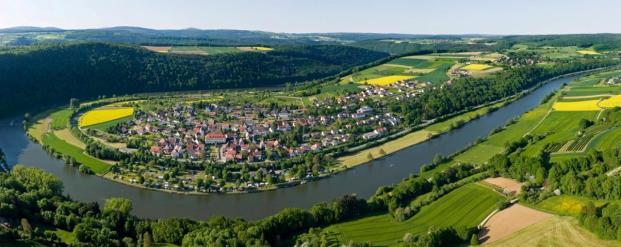 Die Neckarschleife bei Binau