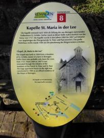 Infotafel an der Kirche St. Maria