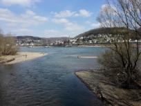Mündung der Ahr in den Rhein