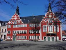 Das Rathaus von Arnstadt am Marktplatz