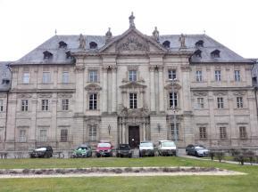 Barocke Klosterfassade in Erbrach - dahinter befindet sich eine Justizvollzugsanstalt