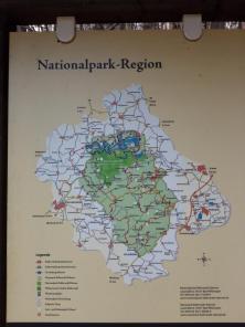 Lage und Ausdehnung des Kellerwald-Nationalparks