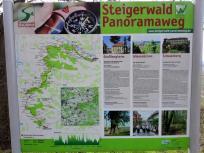 Wir folgen ein Stück weit dem Steigerwald Panoramasteig
