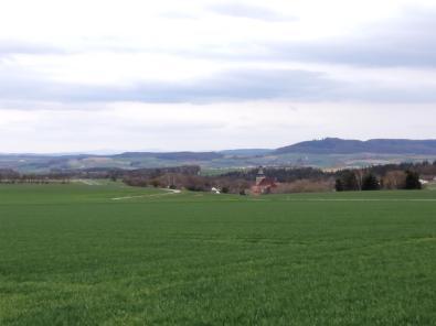 Blick über die Höhen rund um Seßlach