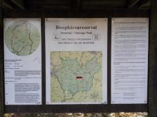 Infotafel im Biosphärenreservat
