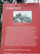 Infotafel an der Ruine Kalsmunt