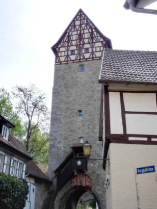 Das Jörgentor mit seinem Fachwerkaufbau von 1570