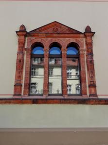 Fassadendetail am Gerichtsgebäude
