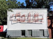 Kunst an einer Hauswand auf dem Museumshügel