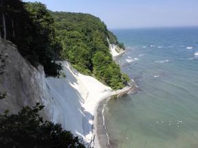 Die ganze Küste zwischen Lohme und Sassnitz besteht aus Kreide