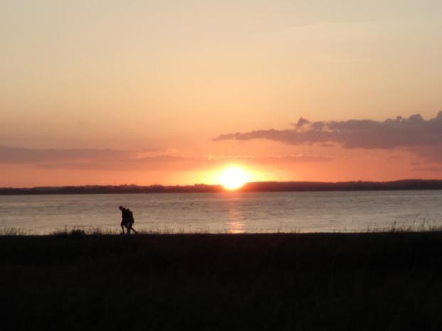 Sonnenuntergang am Strand von Langballig