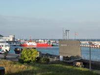 Englisches U-Boot als Museumsschiff im Hafen von Sassnitz