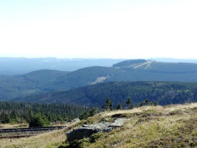 Blick vom Brocken hinüber zum Wurmberg