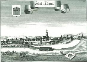 Historisches Portrait von Cham aus dem Jahr 1721