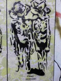 Graffiti in der Innenstadt
