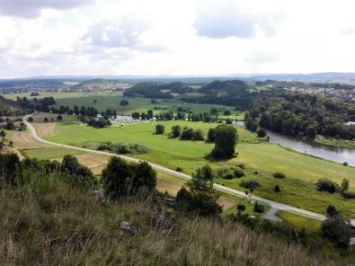 Blick von der Burg Kallmünz Naabaufwärts