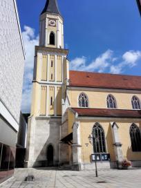 Turm der Stadtpfarrkirche Mariä Himmelfahrt