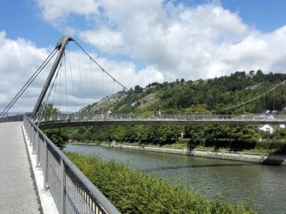 Fußgänger- und Fahrradbrücke über die Altmühl