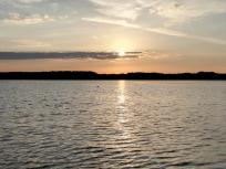 Sonnenuntergang über dem Steinberger See