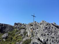 Das Gipfelkreuz des Kleinen Osser